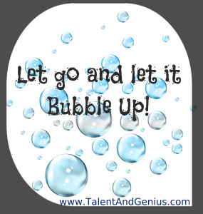Bubble Up text